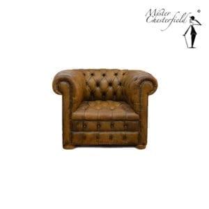 chesterfield-stoel-antiek-olive-green