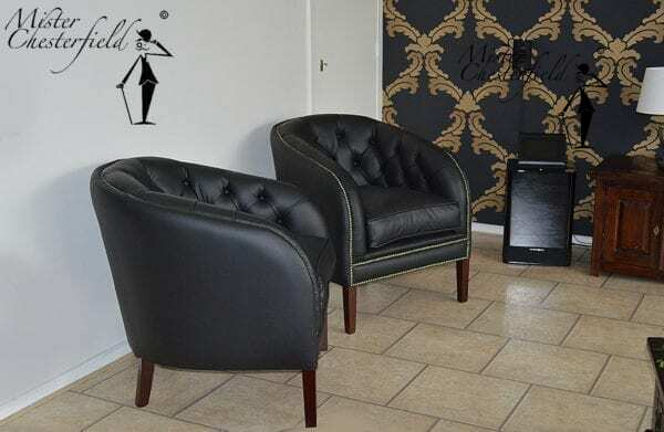 chesterfield-Liverpool-fauteuil-zwart