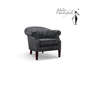 Chesterfield-devon-tub-chair-zwart