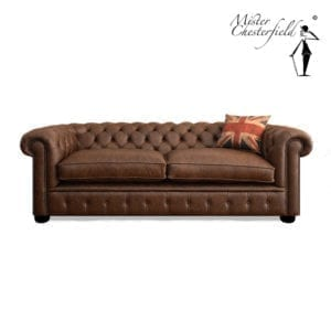 Chesterfield-bruin-vintage