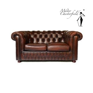 tweedehands-chesterfield-tweezits-chestnut