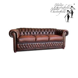 chestnut 3 seater sofa chesterfield