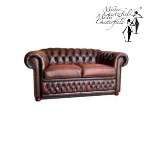 chestnut sofa chesterfield 2 seater