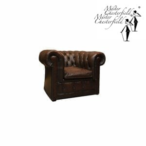 google-chesterfield-stoel-antique-brown-tweedehands-1