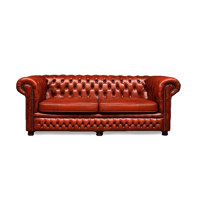 chesterfield-chestnut-gebruikte-chesterfields-bank in rust light