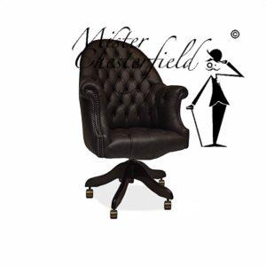 google-chesterfield-directors-chair-swivel-chair-zwart-bureaustoel